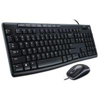 Logitech MK200 Media Combo, Keyboard/Mouse, Wired, USB, Black LOG920002714