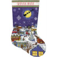 Christmas Eve Stocking Counted Cross Stitch Kit NOTM052882