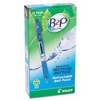 Pilot B2P Bottle-2-Pen Recycled Retractable Ball Point Pen, Blue Ink, .7mm, Dozen PIL32601