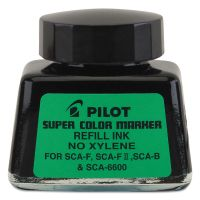 Pilot Jumbo Marker Refill Ink, For Permanent Markers, 1 oz Ink Bottle, Black PIL48500