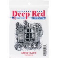 """Deep Red Cling Stamp 3""""X3"""" NOTM056612"""