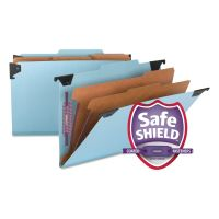 Smead Six Section Hanging Classification Folder, Pressboard/Kraft, Legal, Blue SMD65165