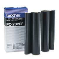 Brother PC202RF Thermal Transfer Refill Roll, Black, 2/PK BRTPC202RF