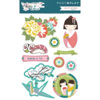 Paper Crane Layered Stickers NOTM334978