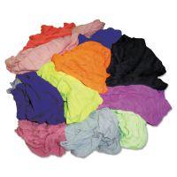 HOSPECO New Colored Knit Polo T-Shirt Rags, Assorted Colors, 10 Pounds/Bag HOS24510