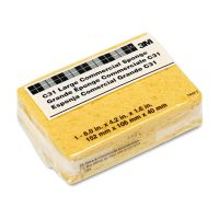 3M Commercial Cellulose Sponge, Yellow, 4 1/4 x 6 MMMC31