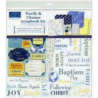 Karen Foster Purify & Cleanse Baptism Scrapbook Page Kit   NOTM022030