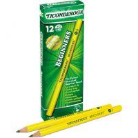Dixon Ticonderoga Beginners Wood Pencil w/o Eraser, #2, Yellow, Dozen DIX13080