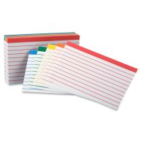 Oxford Color Coded Ruled Index Cards, 3 x 5, Assorted Colors, 100/Pack OXF04753