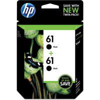 HP 61, (CZ073FN) 2-pack Black Original Ink Cartridges HEWCZ073FN