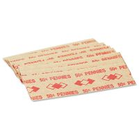 PM Company Tubular Coin Wrappers, Pennies, $.50, Pop-Open Wrappers, 1000/Pack PMC53001