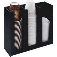 Vertiflex Commercial Grade Cup Holder, 12 3/4w x 4 1/2d x 11 3/4d, Black VRTVFPC1000