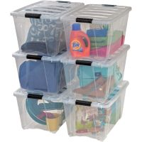 Iris Stackable Clear Storage Boxes IRS100245