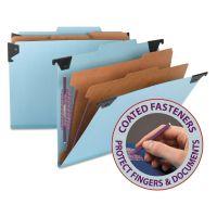 Smead Six Section Hanging Classification Folder, Pressboard/Kraft, Letter, Blue SMD65115