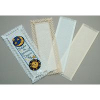 """Lace Edged Bookmark 18 Count 3""""X8"""" NOTM239708"""