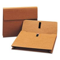 """Smead 2"""" Exp Wallet with Hook and Loop Closure, Letter, Redrope SMD77142"""