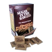 Sugar in the Raw Unrefined Sugar Made From Sugar Cane, 200 Packets/Box SMU00319
