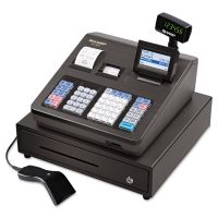 Sharp XE Series Cash Register w/Scanner, Thermal Printer, 7000 Lookup, 40 Clerks, LCD SHRXEA507