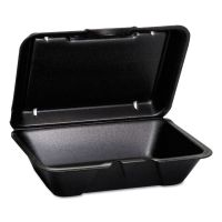 Genpak Hinged-Lid Foam Carryout Containers, Deep, 9 1/4x6 1/2x2 7/8, 100/Bag, 2 Bg/Ctn GNP205003L