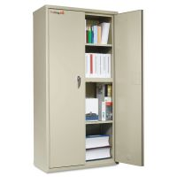 FireKing Storage Cabinet, 36w x 19 1/4d x 72h, UL Listed 350°, Parchment FIRCF7236D