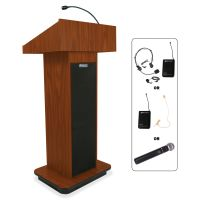 AmpliVox Wireless Executive Sound Column Lectern APLSW505