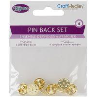 Pin Back Sets 6/Pkg NOTM154305