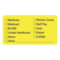 Tabbies Labels for Insurance List, 1-3/4 x 3-1/4, Yellow, 250/Roll TAB02940