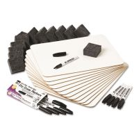 Charles Leonard Lapboard Class Pack, Dry Erase Boards, 9 x 12, White, 12 Boards/Kit LEO35036