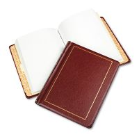 Wilson Jones Looseleaf Minute Book, Red Leather-Like Cover, 250 Unruled Pages, 8 1/2 x 11 WLJ039611