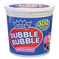 Dubble Bubble Bubble Gum, Original Pink, 300/Tub TOO16403