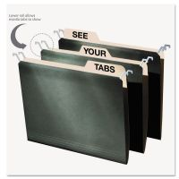 find It Hanging File Folders with Innovative Top Rail, Letter, Green, 20/Pack IDEFT07033