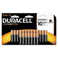Duracell CopperTop Alkaline Batteries, AAA, 20/PK DURMN2400B20Z