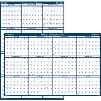 House of Doolittle Laminated Yearly Academic Wall Calendar HOD3965