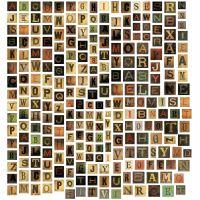 """Idea-Ology Alpha Tiles Chipboard Letters .6875"""" 255/Pkg NOTM253120"""