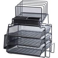 Lorell Divided 4-tier Desktop Organizer LLR95251