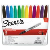 Sharpie Fine Point Permanent Marker, Assorted, 12/Set SAN30072