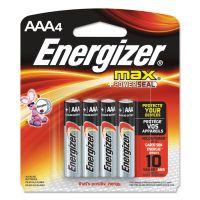 Energizer MAX Alkaline Batteries, AAA, 4 Batteries/Pack EVEE92BP4