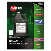 Avery GHS Chemical Waterproof & UV Resistent Labels, Laser, 4 x 4, 200/Box AVE60504