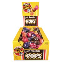 Tootsie Roll Tootsie Pops, 0.76 oz, Assorted Flavors, 100/Box TOO1014965