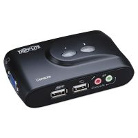 Tripp Lite 2-Port Compact USB KVM Switch w/Audio and Cable TRPB004VUA2KR