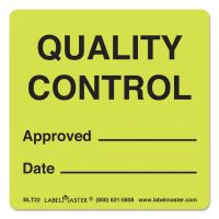 LabelMaster Warehouse Labels, 4 7/8 x 3 1/2, QUALITY CONTROL APPROVED/DATE, 500/Roll LMTBLT22