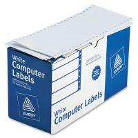 Avery Dot Matrix Mailing Labels, 1 Across, 1 15/16 x 4, White, 5000/Box AVE4022