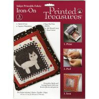 "Printed Treasures Iron-On Ink Jet Fabric Sheets 8.5""X11"" 3/P NOTM084223"