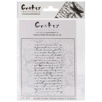 """Crafty Individuals Unmounted Rubber Stamp 4.75""""X7"""" Pkg NOTM082586"""