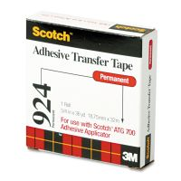"""Scotch Adhesive Transfer Tape Roll, 3/4"""" Wide x 36yds MMM92434"""