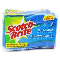 Scotch-Brite -Brite No Scratch Scrub Sponges MMMMP3