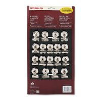 """X-ACTO Bulldog Magnetic Clips, Steel, 1-1/4""""w, Nickel-Plated, 18/Box EPI2026"""