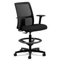 HON Ignition Series Mesh Low-Back Task Stool, Black HONIT108CU10