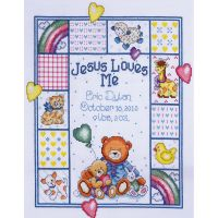 Jesus Loves Me Sampler Counted Cross Stitch Kit NOTM471359
