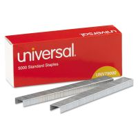 Universal Standard Chisel Point 210 Strip Count Staples, 5,000/Box, 5 Boxes per Pack UNV79000VP